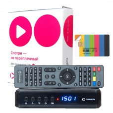"""Спутниковый ресивер Телекарта HD EVO-09HD с картой доступа """"Вездеход""""."""