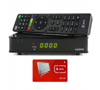 Спутниковый ресивер МТС ТВ Avit S2-4900 с картой доступа на 1 месяц просмотра