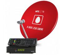Комплект спутникового ТВ МТС с ресивером и картой доступа на 1 месяц