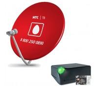 Комплект НТВ ПЛЮС Full HD с  ресивером DSD4514r с антенной 60 см. красного цвета