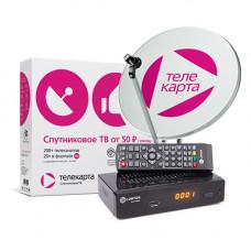 Комплект Телекарта ТВ Full HD с ресивером LORTON S2-33CL